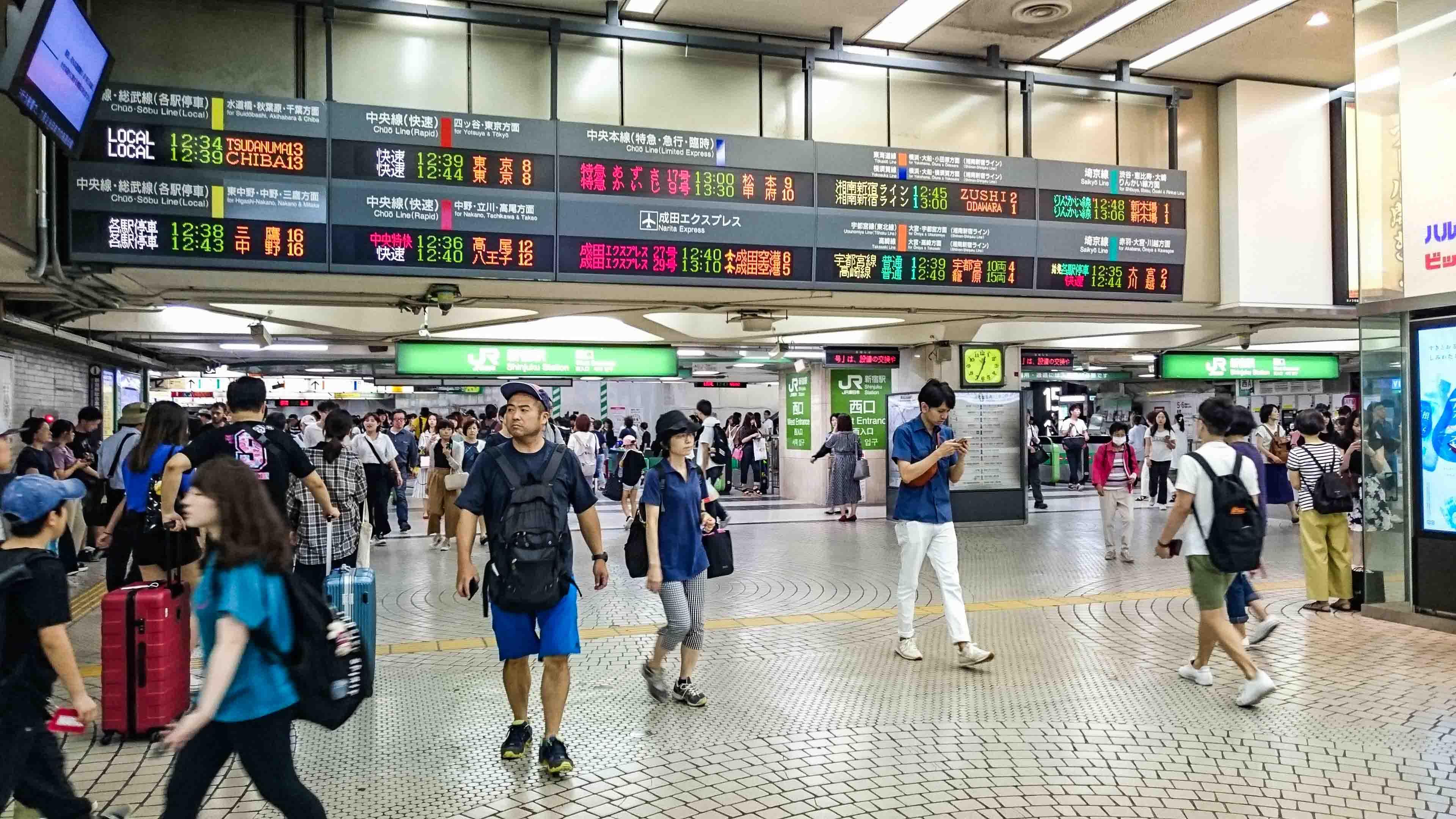 【写真解説!】新宿駅地下道通り抜け〜西口から東口編〜