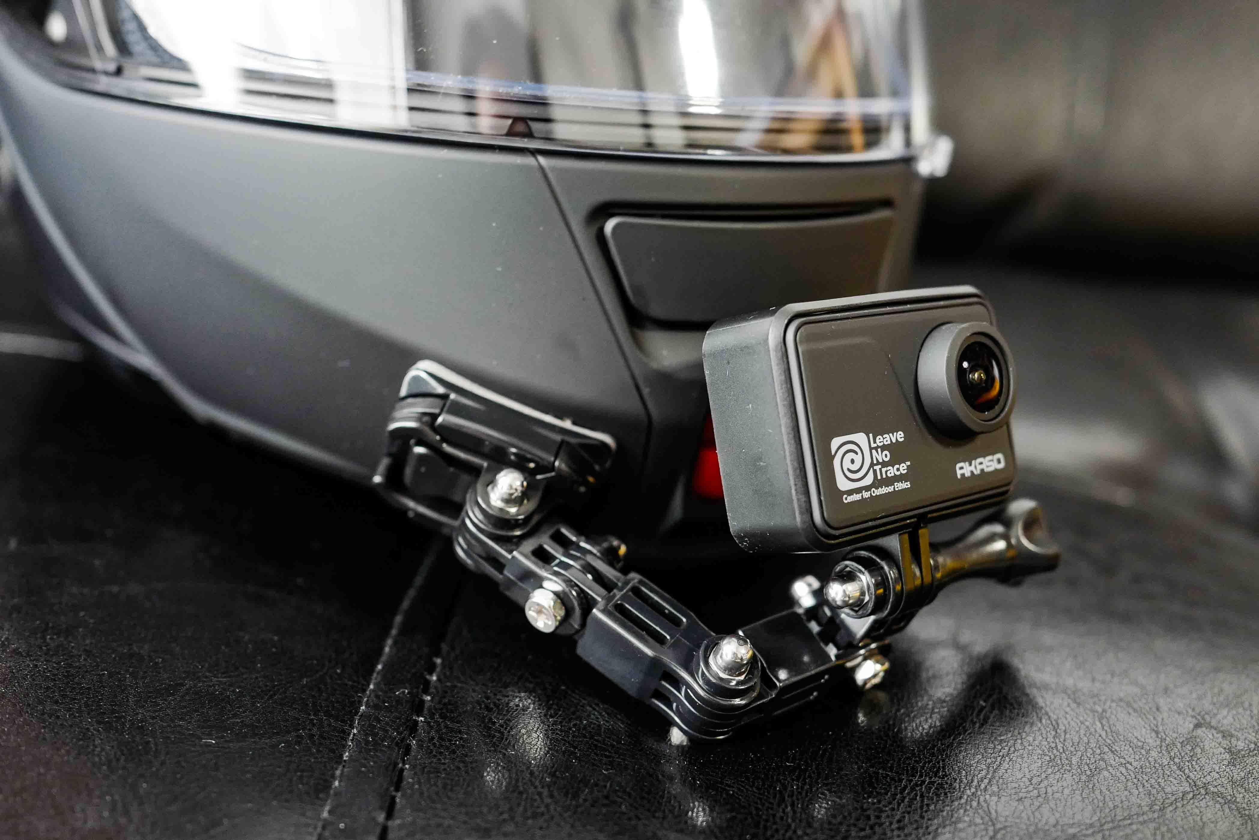 【バイク走行動画で比べてみよう!】GoPro等アクションカメラのマウント方法(ヘルメット顎マウント・ネックマウント)