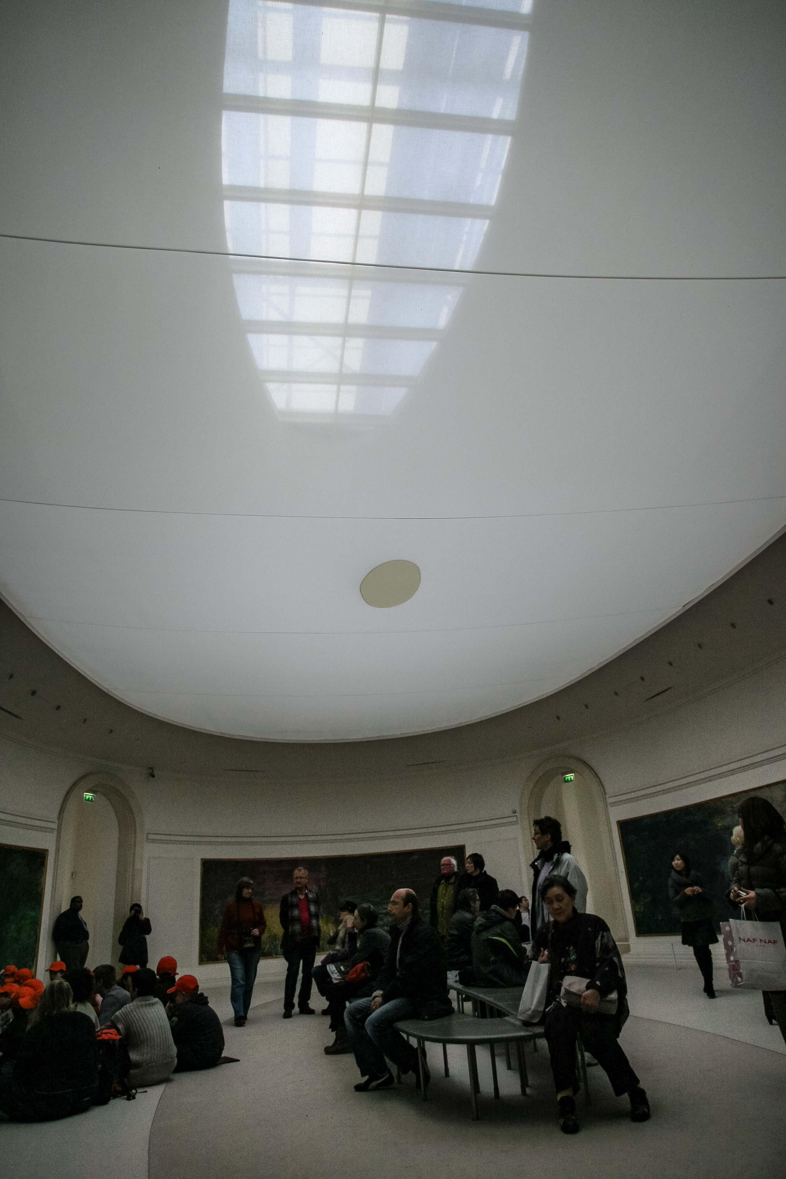 【フランス旅行】パリ オランジュリー美術館 モネの間の天井