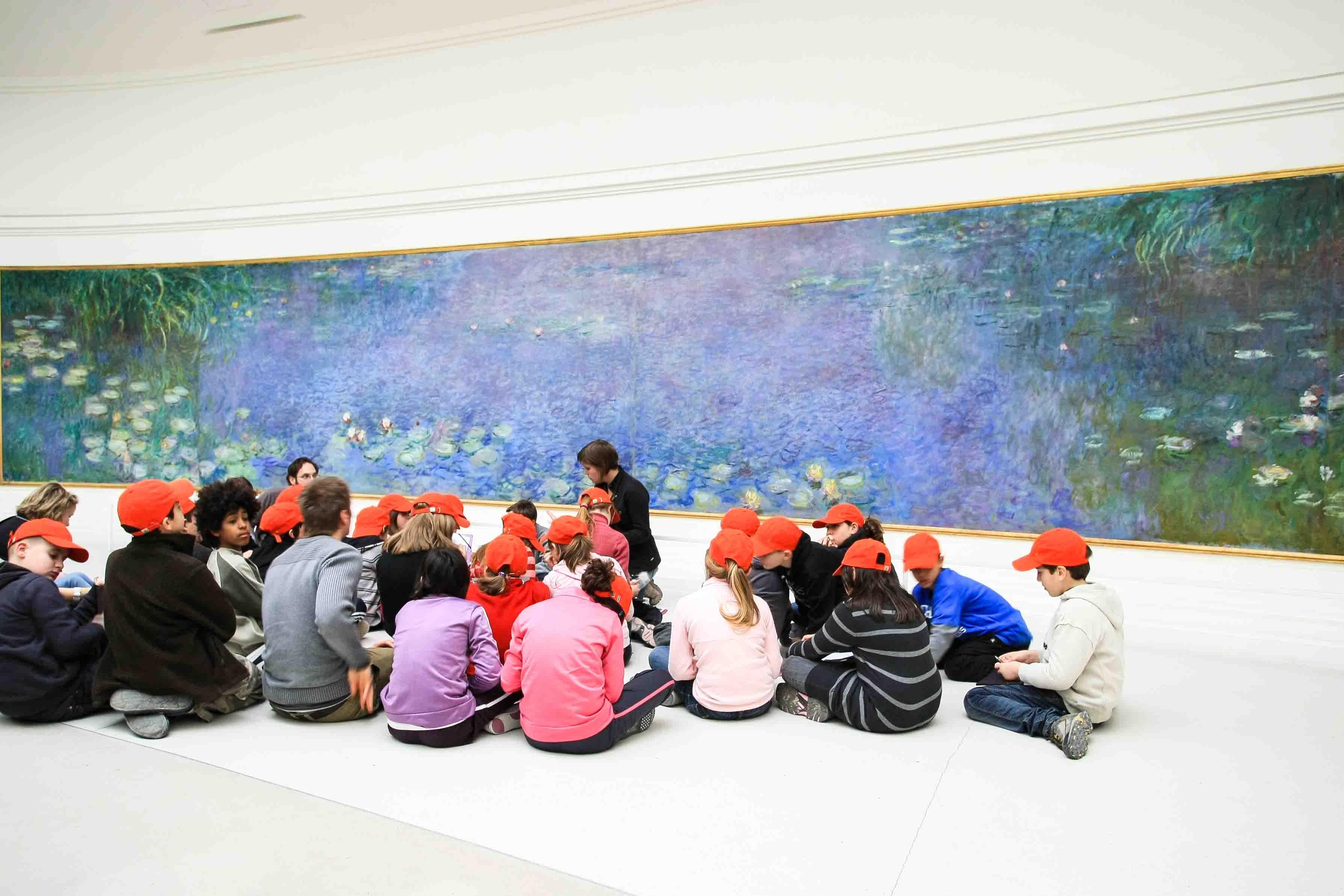 【フランス旅行】パリ オランオランジュリー美術館 モネの間へ