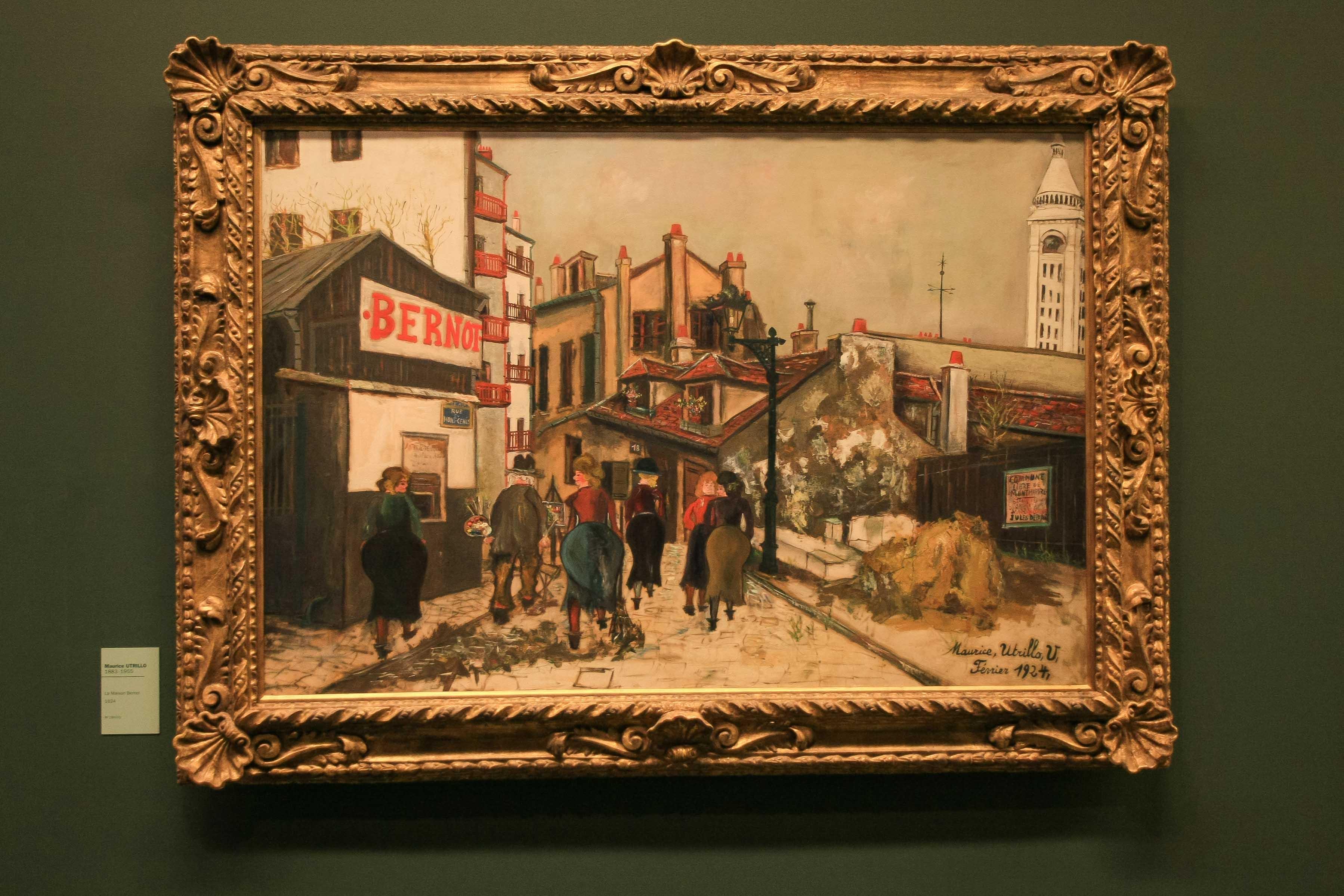 【フランス旅行】パリ オランジュリー美術館 モーリス・ユトリロという画家