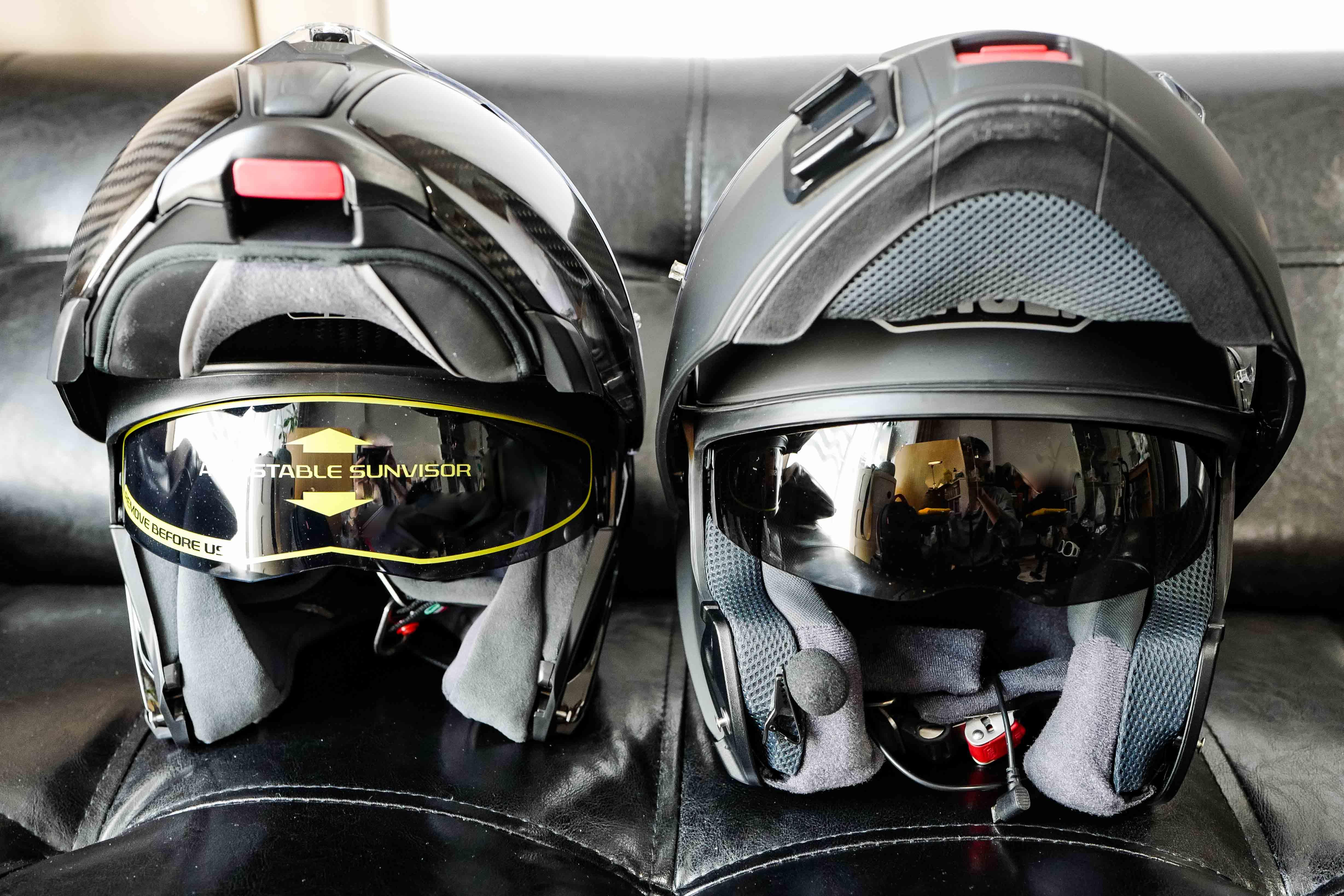 【SHOEIとAGV システムヘルメット比較インプレ】ネオテック(NEOTEC) VS SPORTMODULAR【どちらが高性能?】