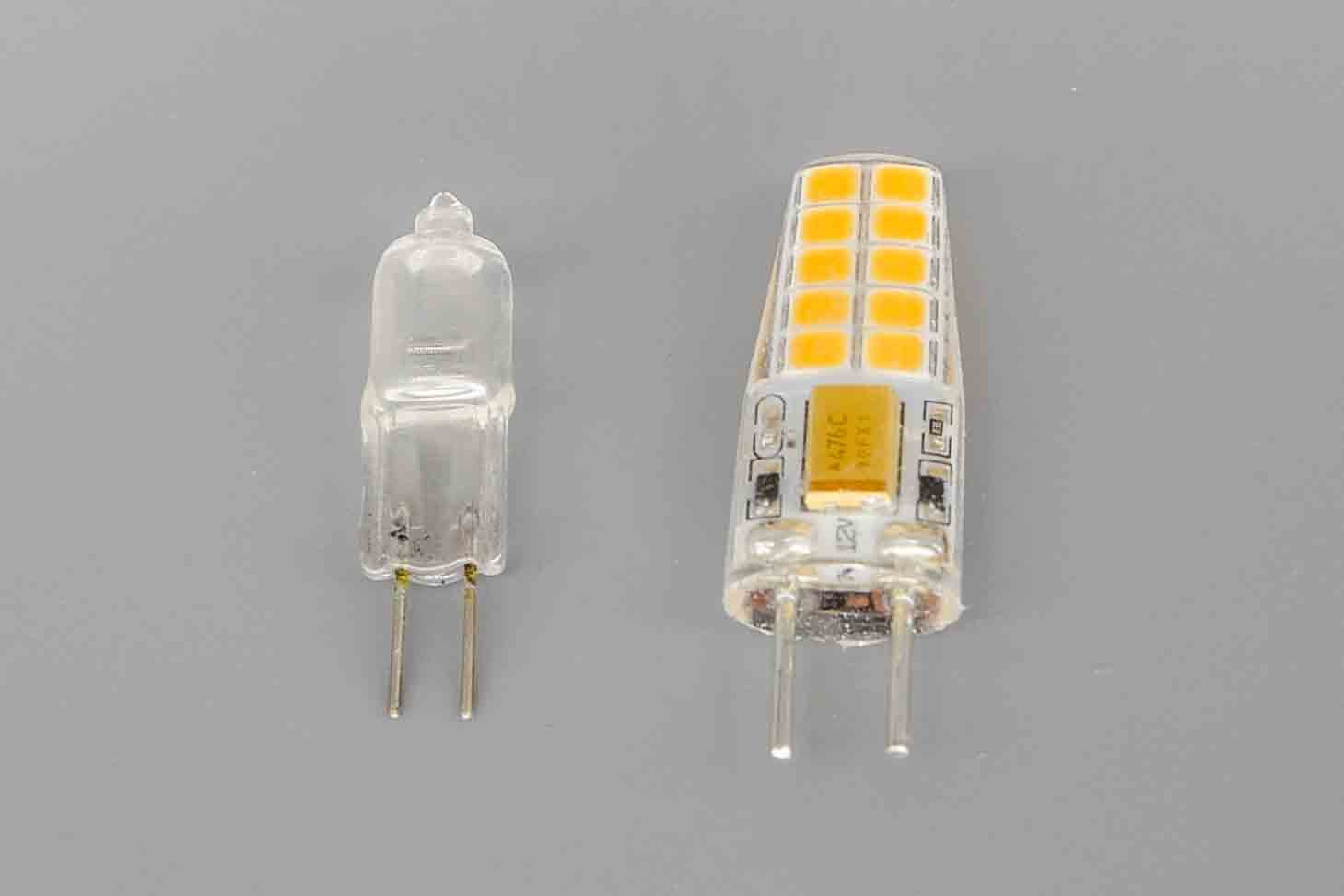 【必ず間違える!】ミニ電球G4口金とG6.35口金【大きさ比較してみる!】