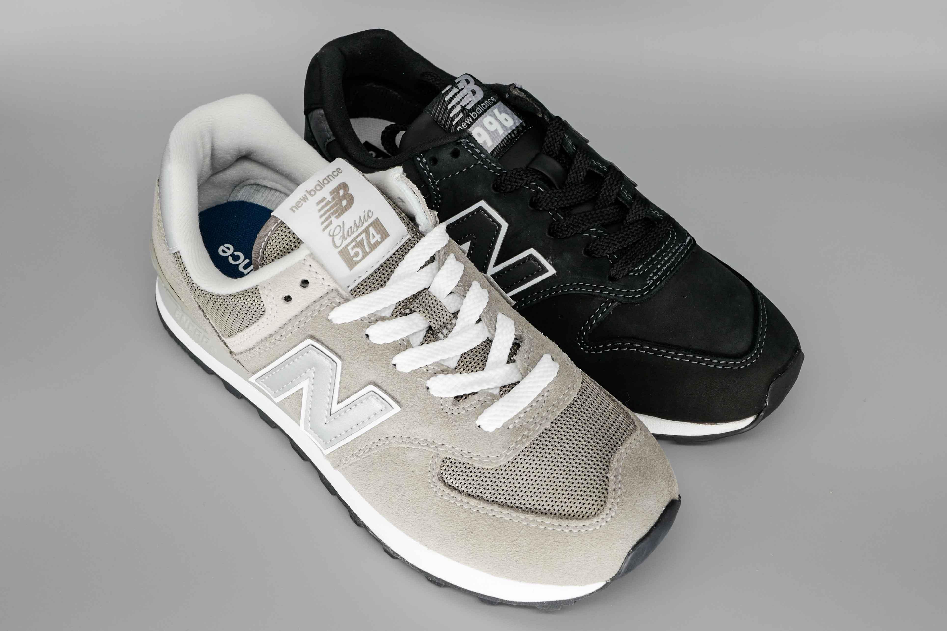 【履きやすさなら574!】ニューバランスML574とCM996を履き比べたら違いが分かってしまった!履き心地とサイズ感も!【定番のグレーとブラックを並べて比較!】